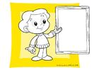 Kleurplaat schoolbord