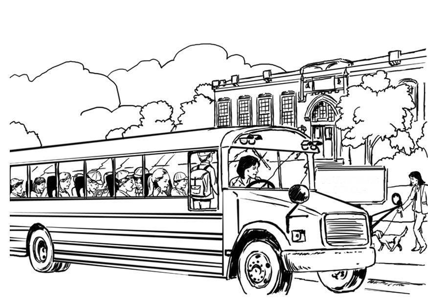 Afbeeldingen Kleurplaten Bus Kleurplaat Schoolbus Afb 8053
