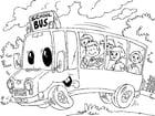 Kleurplaat schoolbus