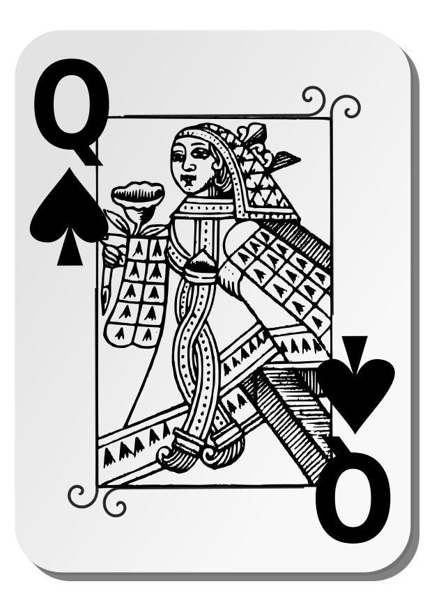 Kleurplaat Schoppen Koningin Afb 27271