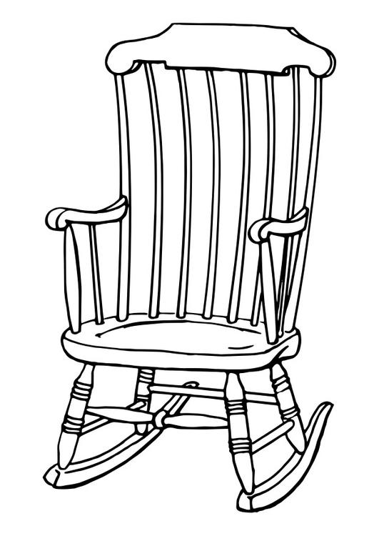 Kleurplaat stoel. Gratis kleurplaten om te printen.