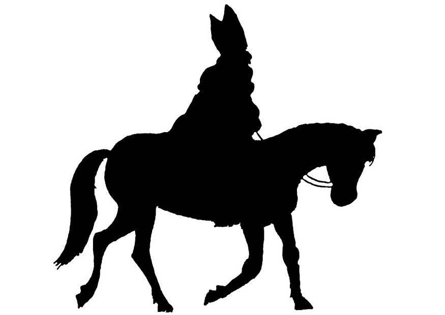 Kleurplaat Paard En Pieten Sinterklaas Kleurplaat Silhouet Sint Gratis Kleurplaten Om Te Printen