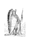 Kleurplaat sioux indiaan