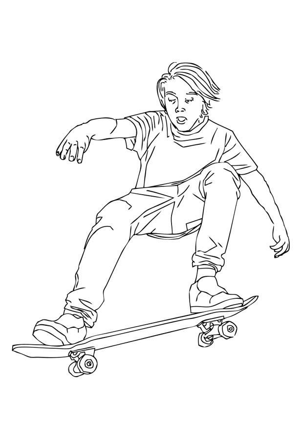 Kleurplaat Meisje Met Paard Kleurplaat Skaten Afb 28710