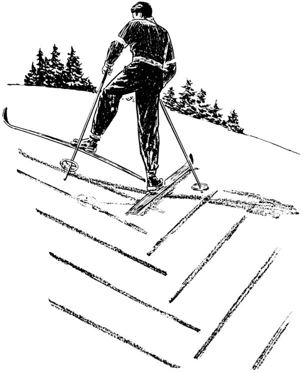 kleurplaat ski 235 n bergop gaan afb 26111