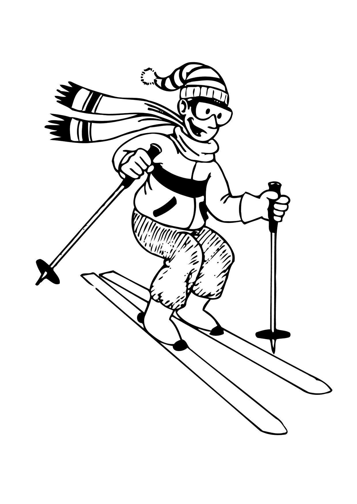 Kleurplaat Skien Afb 12170