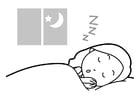 Kleurplaat slapen