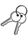 Kleurplaat sleutels