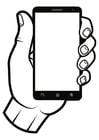 Kleurplaat smartphone