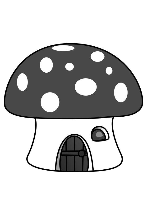 Kleurplaat smurfenhuis afb 29857 - Schtroumpf maison ...