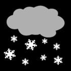 Kleurplaat sneeuw