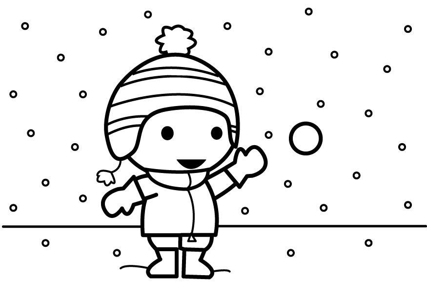 kleurplaat sneeuwbal gooien gratis kleurplaten om te printen