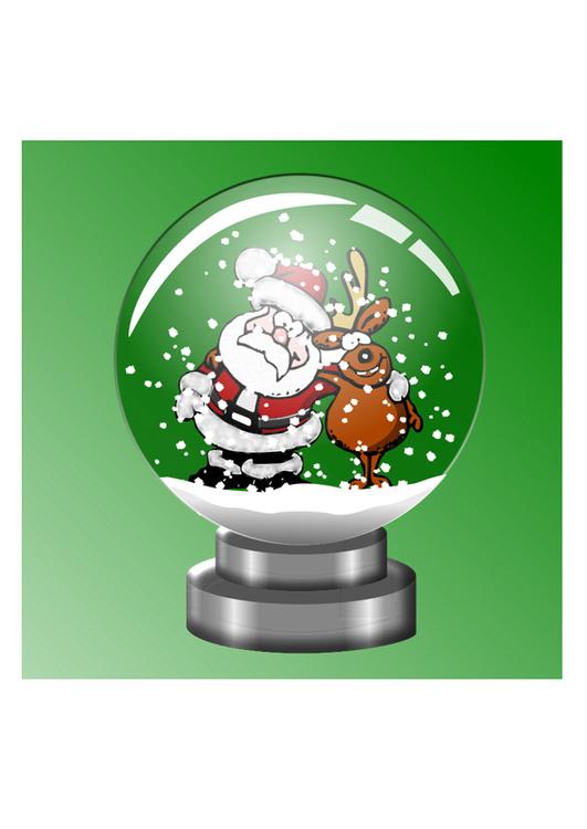 kleurplaat sneeuwbol afb 29524