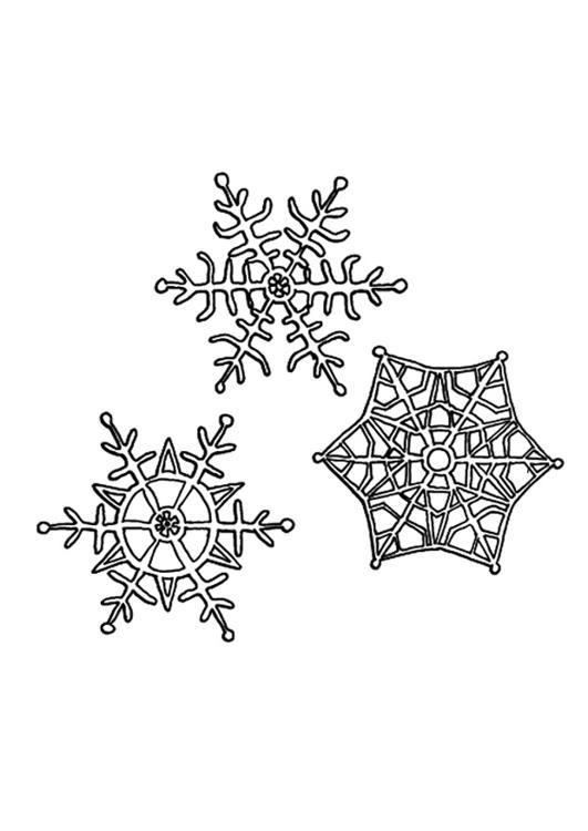 kleurplaat sneeuwkristallen afb 9491