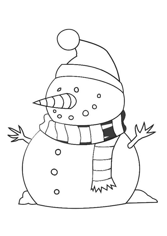 kleurplaat sneeuwman gratis kleurplaten om te printen