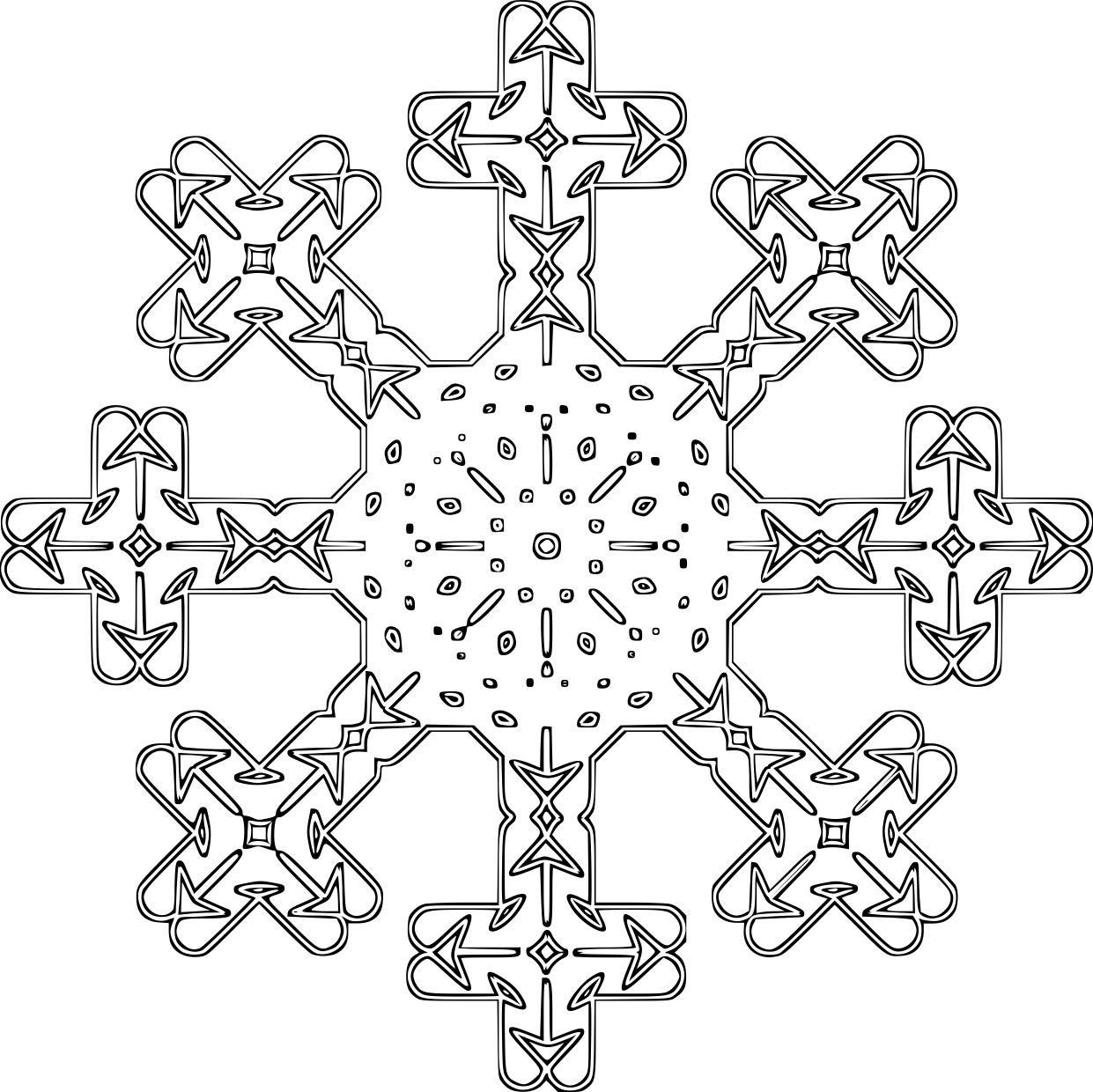 kleurplaat sneeuwvlok gratis kleurplaten om te printen