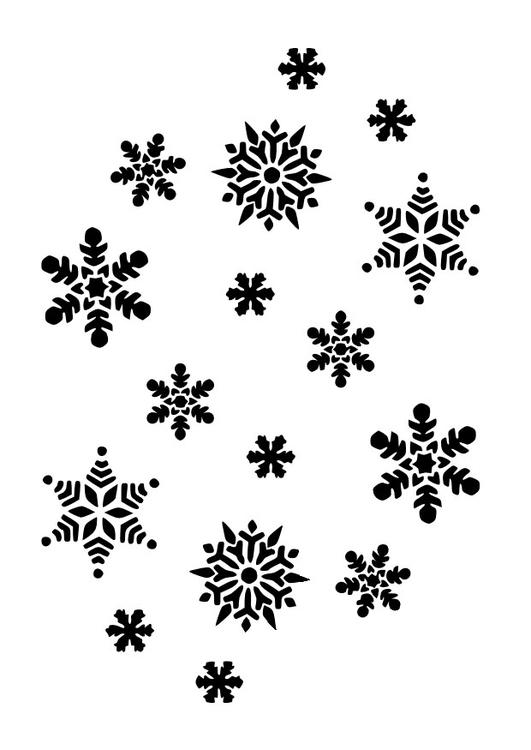 kleurplaat sneeuwvlokken afb 10023 images
