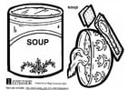 Kleurplaat soep