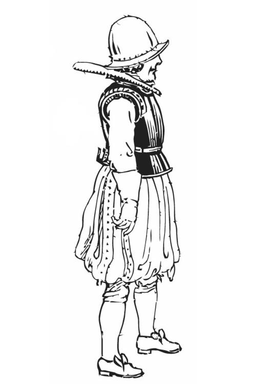 Kleurplaat Soldaat Met Korselet Afb 13237