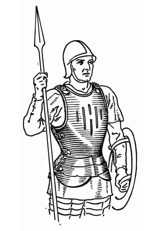 Kleurplaat Soldaat Met Kuras Afb 13263