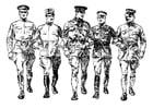 Kleurplaat soldaten eerste wereldoorlog