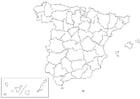 Kleurplaat Spanje - provincies