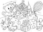 Kleurplaat speelgoed