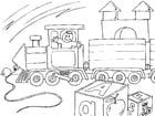 Kleurplaat speelgoed trein