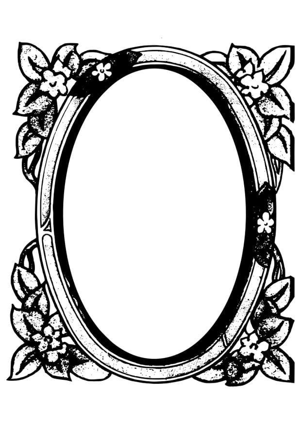 kleurplaat spiegel afb 28087