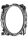 Kleurplaat spiegel