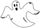 Kleurplaat spook