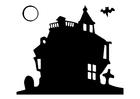 Kleurplaat spookhuis