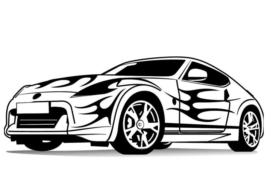 Auto Kleurplaat Ferrari Parksidetraceapartments