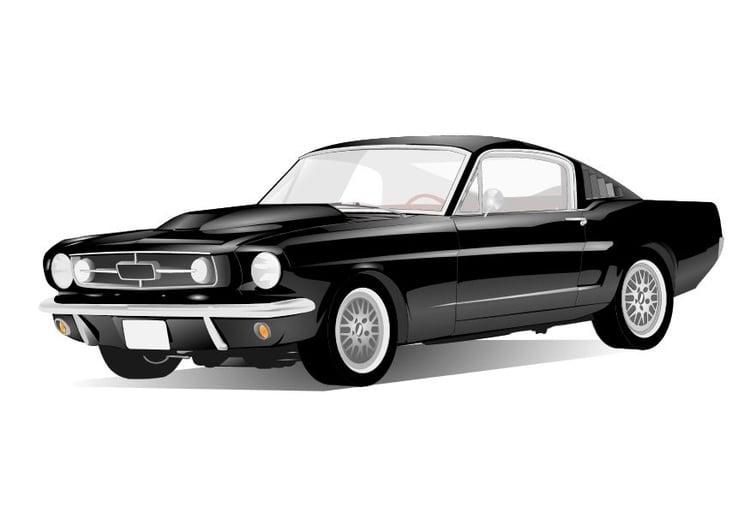 Kleurplaten Auto Ford Mustang.Kleurplaat Sportauto Afb 10486 Images
