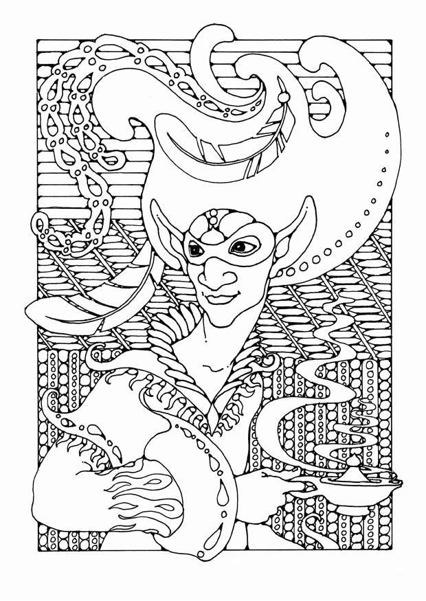 Kleurplaat Sprookjesfiguur Afb 25658