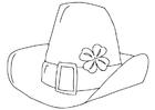 Kleurplaat St. Patrick's Day hoed