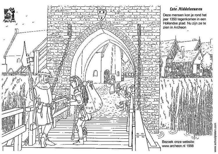 Gratis Kleurplaten Middeleeuwen.Kleurplaat Stadspoort Gratis Kleurplaten Om Te Printen