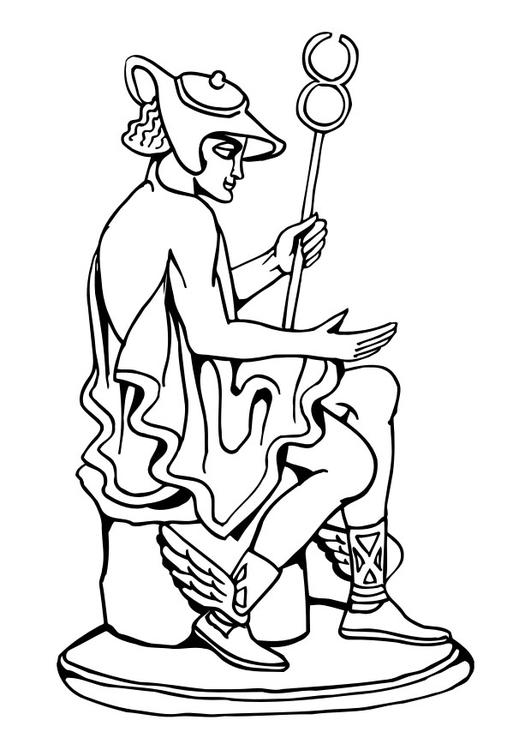Kleurplaat standbeeld