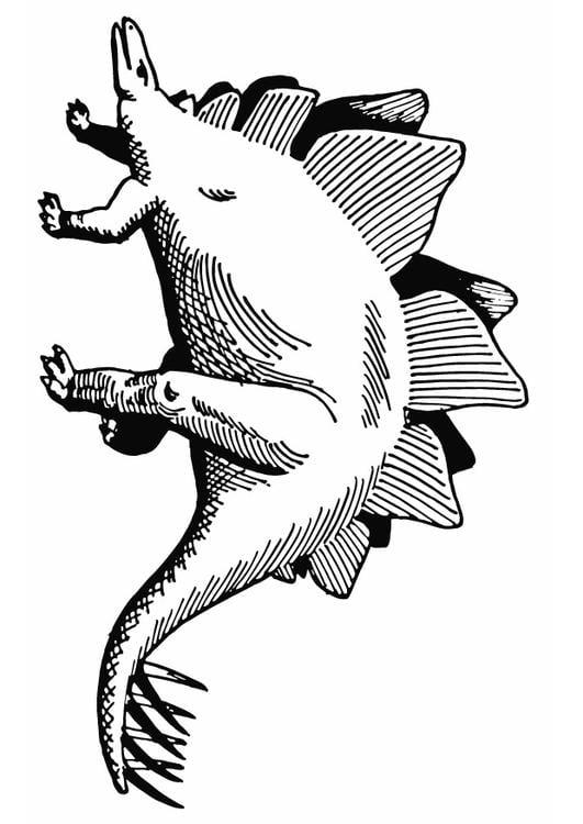 Kleurplaat Stegosaurus Afb 13284