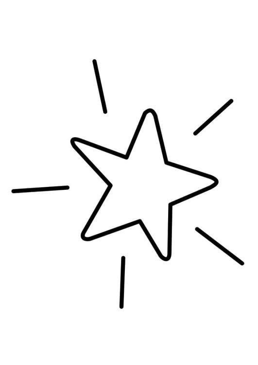 kleurplaat ster afb 22742