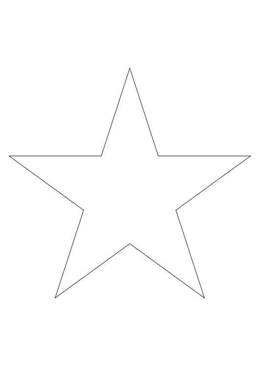 kleurplaat ster afb 27796