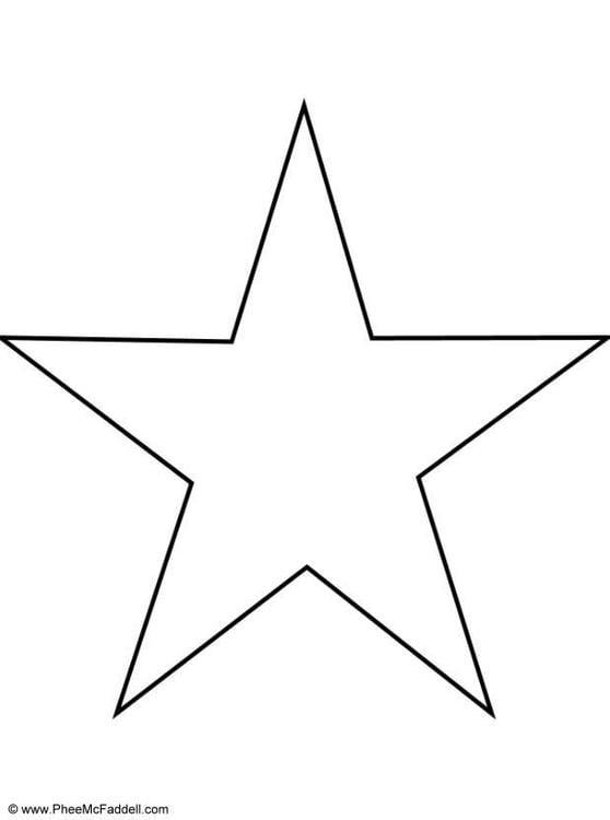 Kleurplaat Ster Afb 6907
