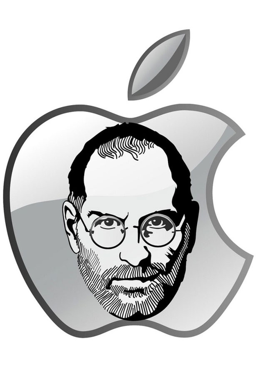 Kleurplaat Steve Jobs Apple Afb 24759