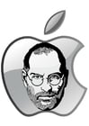 Kleurplaat Steve Jobs - Apple