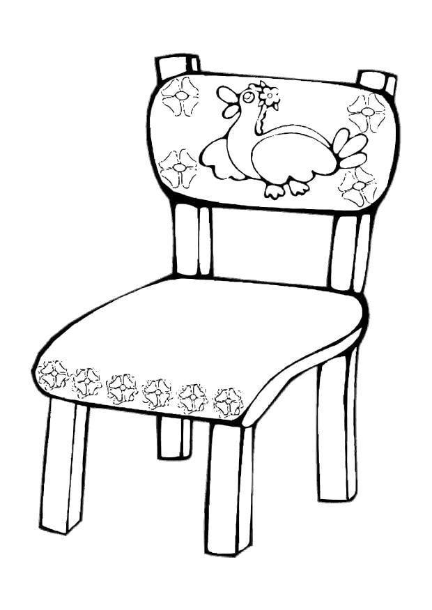 Kleurplaat stoeltje afb 10619 - Sillas para pintar ...