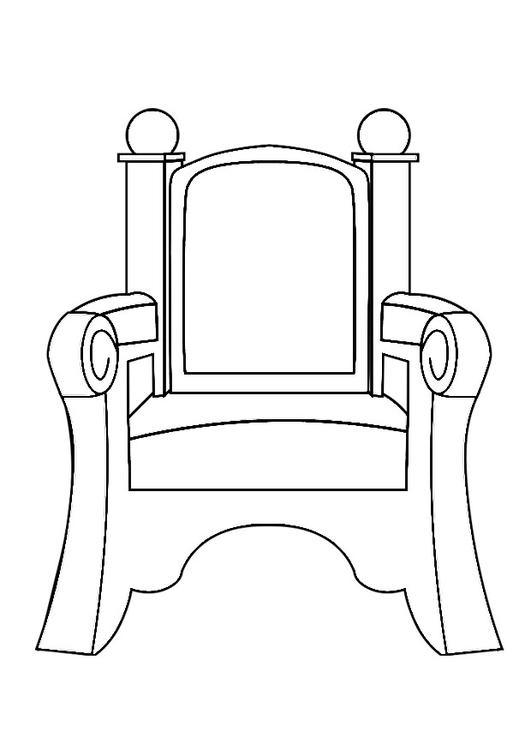 Coloring Pages Throne