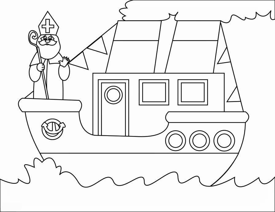 Kleurplaten Sinterklaas Stoomboot.Kleurplaat Stoomboot Sinterklaas Kleurplaat Stoomboot 2 Afb 16167