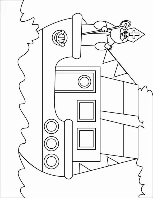 Afbeelding Sint Maarten Kleurplaat Kleurplaat Stoomboot 2 Afb 16167