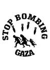 Kleurplaat stop bombardementen Gaza