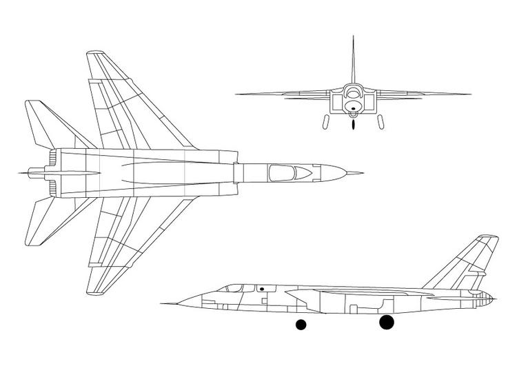 kleurplaat straaljager a 5a vigilante afb 9821